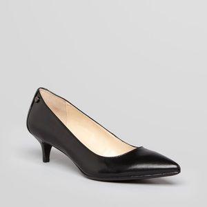 Calvin Klein Nicki Black Kitten Career Heel Pumps